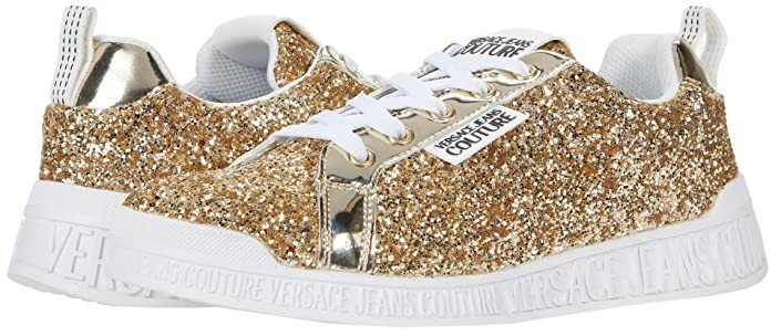 Gold Glitter Sneakers | Shop the world