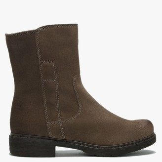 Manas Design Brown Suede Ankle Boots