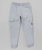U.S. Polo Assn. Light Heather Gray Cargo Joggers - Infant & Boys