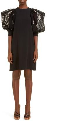 Givenchy Embellished Sleeve Crepe Dress