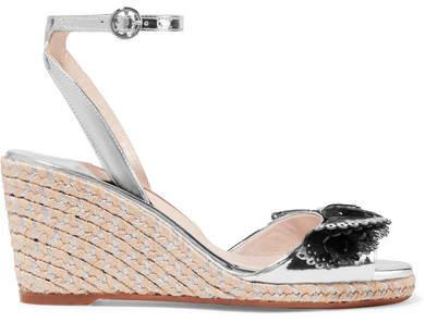 Sophia Webster Soleil Lucita Mirrored-leather Espadrille Wedge Sandals