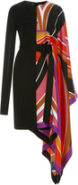 Emilio Pucci Striped Silk and Jersey Dress