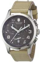 Victorinox Women's Quartz Watch Chronograph Display and Leather Strap 241320