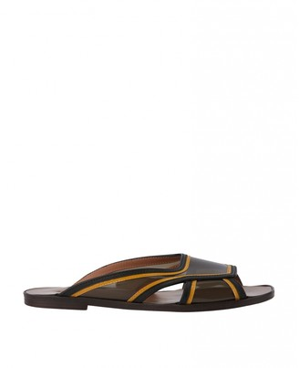Marni Brown Leather Sandals