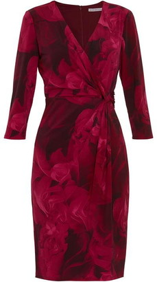 Gina Bacconi Lainey Floral Wrap Dress