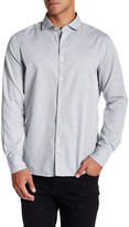 J. Lindeberg Long Sleeve Trim Fit Washed Dobby Shirt