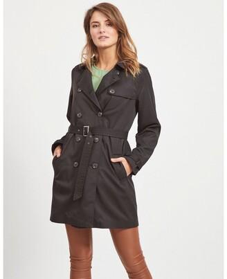 Vila Long Belted Trench Coat