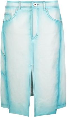 Lanvin Asymmetric Hem Front Slit Skirt