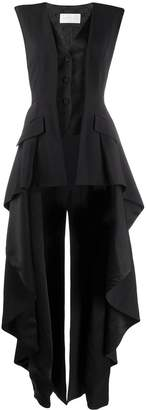 Alberta Ferretti longline layered waistcoat