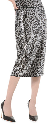 MICHAEL Michael Kors Sequin Cheetah Skirt