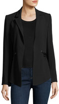 Haute Hippie We Will Meet Again Laced Crepe Blazer, Black