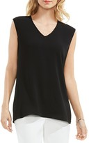 Vince Camuto V-Neck Cap Sleeve Top
