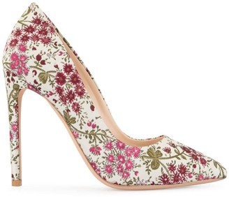 Giambattista Valli floral embroidered pumps