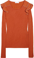 See by Chloé Ruffle-embellished jersey T-shirt