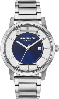 Kenneth Cole NY Men's Stainless Steel See-Through Dial Watch