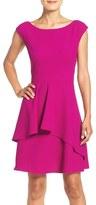 Eliza J Petite Women's Fit & Flare Ruffle Dress