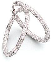 Pavé Crystal Luxe Hoop Earrings/1.5