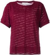adidas by Stella McCartney Cherry Cool logo T-shirt - women - Cotton/Polyester - XS