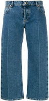 Balenciaga cropped wide leg jeans
