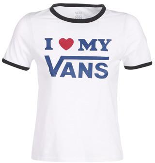 Vans LOVE RINGER women's T shirt in White