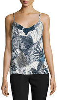 French Connection Lala Palm-Print Camisole, Multi Pattern