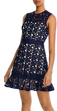 Aqua Lace Flounce Mini Dress - 100% Exclusive