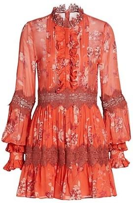 Alexis Beaumont Lace Trim Mini Dress