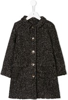 Caffe Caffe' D'orzo textured single breasted coat