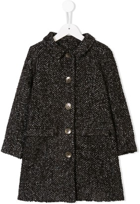 Caffe' D'orzo Textured Single Breasted Coat