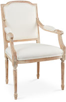 Sarreid Ltd. Louis Armchair, Off-white Linen