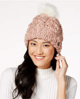 Betsey Johnson Pearly Girl Cuff Beanie