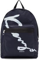 Kenzo Navy Signature Logo Backpack