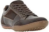 Dune Titan Mixed Leather Lace-up Trainers