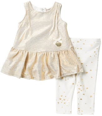 Juicy Couture Metallic Tunic & Leggings Set (Baby Girls 12-24M)