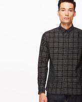 Check Needle Cord Slim Shirt