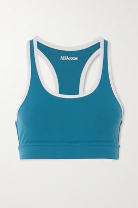 All Access Front Row Stretch Sports Bra - Blue