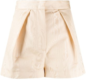 Pt01 High-Waisted Pleated Detail Shorts