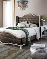 "Haute House Taupe ""Tabitha"" Tufted Bed"