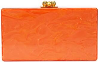 Edie Parker marbled-effect box clutch bag