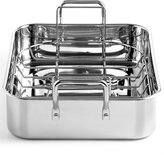 """Martha Stewart Collection Stainless Steel 15"""" Roaster with Roasting Rack, Created for Macy's"""