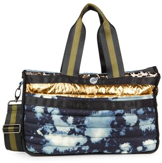Think Royln Lil Daddy Tie-Dye Quilted Weekender Bag