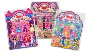 Melissa & Doug Puffy Sticker Bundle - Dress-Up, Princess and Mermaid