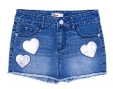 Epic Threads Big Girls Flip Sequin Graphic Denim Shorts