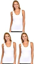 Patricia Lingerie Women's Soft Stretch Cotton Modal Tagless Tank Top Cami S
