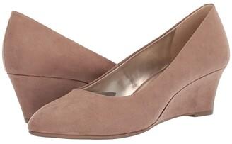 Bandolino Fayola Wedge Heel (Black Leather) Women's Shoes