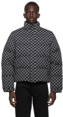 Misbhv Black Reflective Monogram Jacket