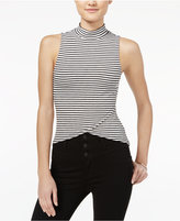 Material Girl Juniors' Mock-Neck Asymmetrical Top, Only at Macy's