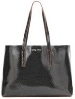 Miu Miu Glossed-leather shopper