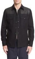 Rag & Bone Men's Key Wool & Leather Shirt Jacket