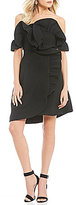 Keepsake Messages Ruffle Off-the-Shoulder Mini Dress